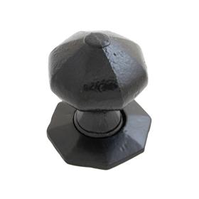 From The Anvil 33250 - Black Octagonal Mortice Rim Knob Set