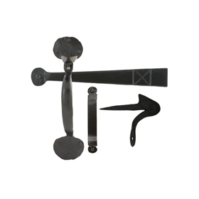 From The Anvil 33253 - Black Heavy Bean Thumb Latch
