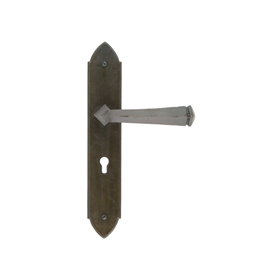 From The Anvil 33271 - Beeswax Gothic Lever Lock on Backplate Set