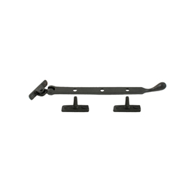 From The Anvil 33291 - Black Pear Drop Casement Stay 203mm