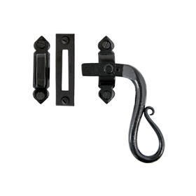 From The Anvil 33469 - Black Locking Shepherds Crook Casement Fastener - Right Hand