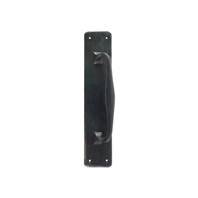 From The Anvil 33479 - Beeswax Offset Pull Handle on Backplate