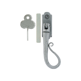 From The Anvil 33602 - Pewter Patina Shepherds Crook Locking Espag Fastener - Right Hand