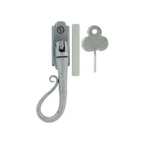From The Anvil 33603 - Pewter Patina Shepherds Crook Locking Espag Fastener - Left Hand
