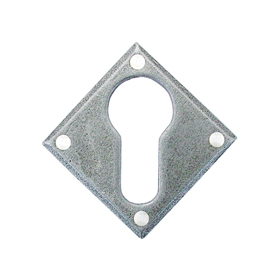 From The Anvil 33622 - Pewter Patina Diamond Euro Escutcheon Plate