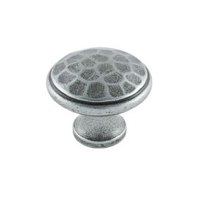 From The Anvil 33626 - Pewter Patina Beaten Cupboard Knob 30mm