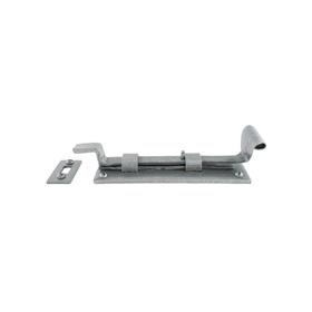 From The Anvil 33662 - Pewter Patina Cranked Door Bolt - 6 inch Outward Opening