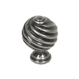 From The Anvil 33691 - Pewter Patina Twist Cupboard Knob 30mm