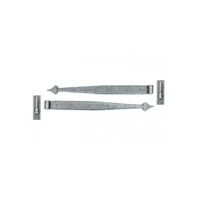 From The Anvil 33742 - Pewter 24 inch Hook & Band Hinge (pair)