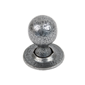 From The Anvil 33778 - Pewter Round Mortice Rim Knob Set
