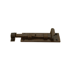 From The Anvil 33906 - Bronze Straight Door Bolt - 6 inch Inward Opening