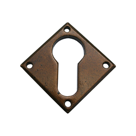 From The Anvil 33948 - Bronze Diamond Euro Escutcheon Plate