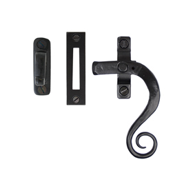 From The Anvil 33953 - Black Locking Monkeytail Casement Fastener - Right Hand