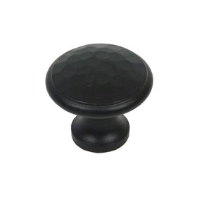 From The Anvil 33992 - Black Beaten Cupboard Knob 30mm