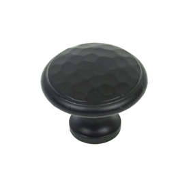 From The Anvil 33993 - Black Beaten Cupboard Knob 40mm
