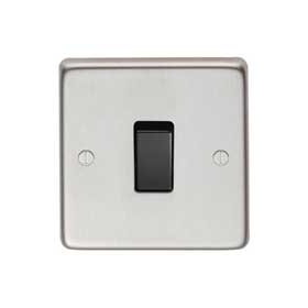 From The Anvil 34200/1 - Satin Stainless 10 Amp Two Way Single Switch