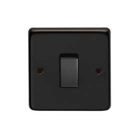 From The Anvil 34200/2 - Matt Black 10 Amp Two Way Single Switch