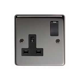 From The Anvil 34223 - Black Nickel 13 Amp DP Single Switched Socket