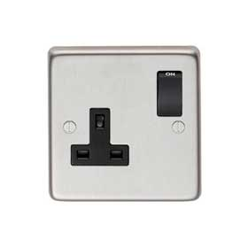 From The Anvil 34223/1 - Satin Stainless 13 Amp DP Single Switched Socket
