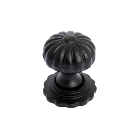 From The Anvil 83507 - Black Cabinet knob with Base - Small
