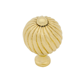 From The Anvil 83551 - Spiral Cabinet knob - Medium - Brass