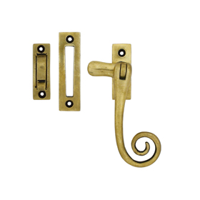 From The Anvil 83565 - Antique Brass Monkeytail Window Fastener