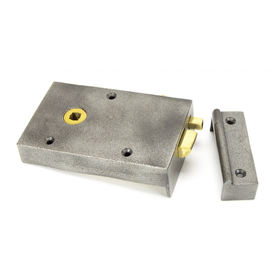 From The Anvil 83575 - Iron Left Hand Bathroom Rim Latch