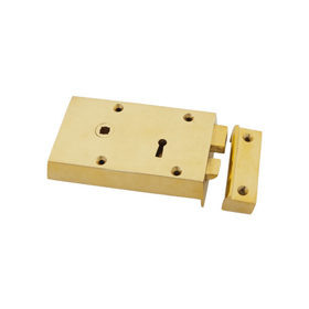 From The Anvil 83577 - Brass Left Hand Rim Lock - Small
