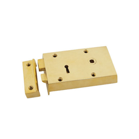 From The Anvil 83580 - Brass Right Hand Rim Lock - Small