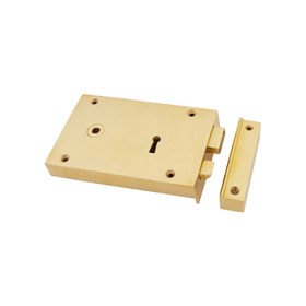 From The Anvil 83585 - Brass Left Hand Rim Lock - Large
