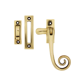 From The Anvil 83593 - Polished Brass Monkeytail Window Fastener
