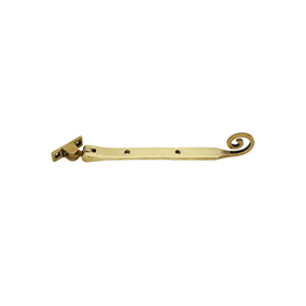 From The Anvil 83594 - Polished Brass Monkeytail Stay 8 inch