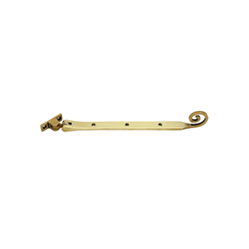 From The Anvil 83595 - Polished Brass Monkeytail Stay 10 inch