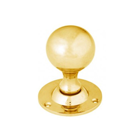 From The Anvil 83630 - Polished Brass Cast Ball Mortice Knob Set