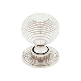 From The Anvil 83636 - Polished Nickel Beehive Hollow Mortice/Rim Knob Set