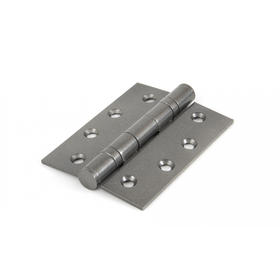 From The Anvil 90027 - Pewter Patina 4 inch Ball Bearing Butt Hinge (pair)