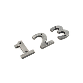 From The Anvil 83730 - Antique Pewter Numeral 0