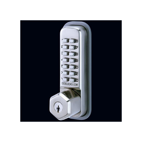 Codelocks CL200 KEY - Mechanical Codelock with Surface Deadbolt with Key Override