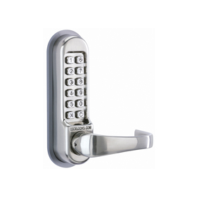 Codelocks CL515 BB - Mechanical Codelock with Tubular Mortice Latch - Back to Back. Code Free Entry Option