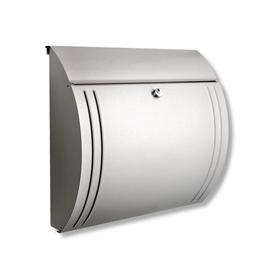 Burg Wachter Modena 3857 Ni - Modena 3857 Ni Stainless Steel Letter Box