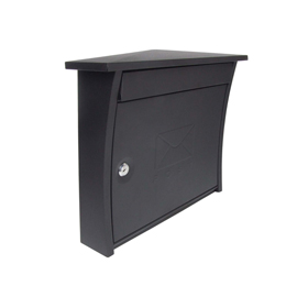 Sterling Locks MB07BK - Matt Black Elite Post Box
