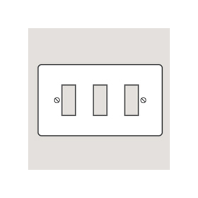 Wandsworth P203 - Classic 3-Gang Switch/Modular Plate