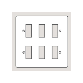 Wandsworth P206 - Classic 6-Gang Switch/Modular Plate