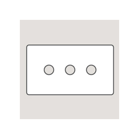 Wandsworth P493 - Classic 3-Gang Palace Toggle Switch Plate
