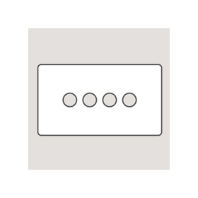 Wandsworth P494 - Classic 4-Gang Palace Toggle Switch Plate
