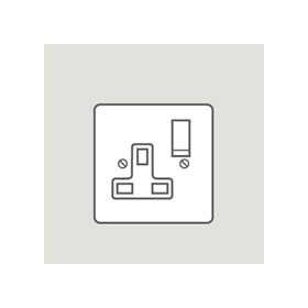 Wandsworth P374 - Classic Single Switched 3-Pin Socket Outlet Cover Plate Only