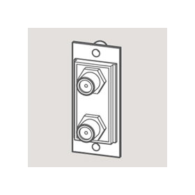Wandsworth W 3706081 - F Twin Satellite Outlet Module/White